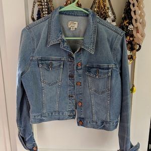 J Crew Cropped Denim Jacket